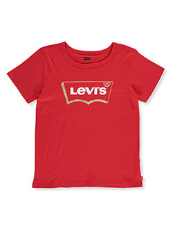 Girls' Logo T-Shirt by Levi's in Red, Girls Fashion