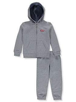 Boys' Classic Logo 2-Piece Sweatsuit Outfit by Levi's in Blue