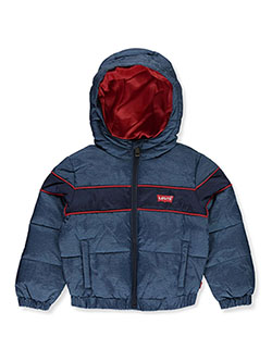 Denim-Look Insulated Hooded Jacket by Levi's in Multi, Infants