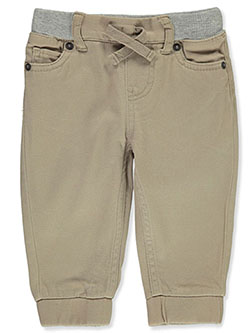 Baby Boys' Twill Joggers by Levi's in Khaki - Jeans