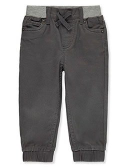 Baby Boys' Twill Joggers by Levi's in gray and khaki