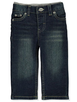 Baby Boys 514 Straight Pull-On Denim Pants by Levi's in Medium blue - Jeans