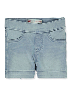 Girls' Pull-On Denim Shorty Shorts by Levi's in Light blue