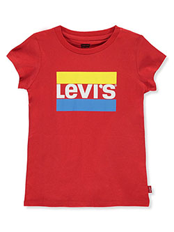 Baby Girls' T-Shirt by Levi's in Red