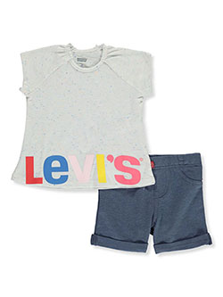 Baby Girls 2-Piece Shorts Set Outfit by Levi's in Multi
