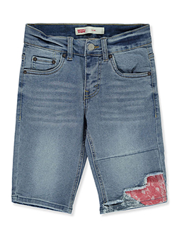 Boys' Slim-Fit Denim Shorts by Levi's in denim blue and light denim, Boys Fashion