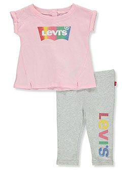 Baby Girls' 2-Piece Leggings Set Outfit by Levi's in Pink