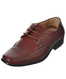 "Easy Strider Boys' ""Worsted Wingtip"" Dress Shoes (Toddler Sizes 6 – 12) - CookiesKids.com"