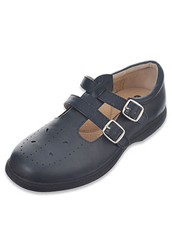 "Easy Strider Girls' ""Double Buckle T-Strap"" Mary Janes (Youth Sizes 5 – 10) - CookiesKids.com"