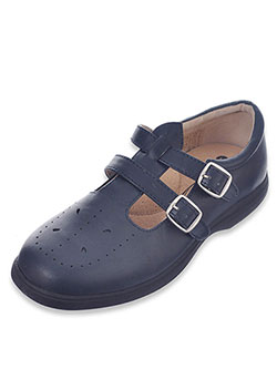 "Easy Strider Girls' ""Double Buckle T-Strap"" Mary Janes (Toddler Sizes 11 – 12) - CookiesKids.com"