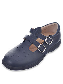 "Easy Strider Girls' ""Double Buckle T-Strap"" Mary Janes (Youth Sizes 13 – 4) - CookiesKids.com"