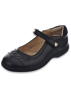 "Easy Strider Girls' ""Stitched Patent Heart"" Mary Janes (Youth Sizes 5 – 10) - CookiesKids.com"
