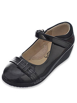 "Easy Strider Girls' ""Stitched Patent Bow"" Mary Janes (Youth Sizes 13 – 4) - CookiesKids.com"