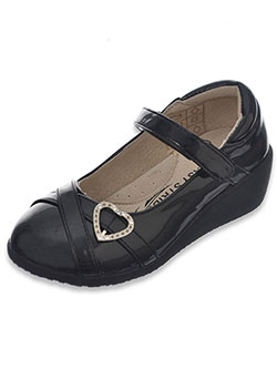 "Easy Strider Girls' ""Patent-Strapped Heart"" Mary Janes (Youth Sizes 5 – 10) - CookiesKids.com"