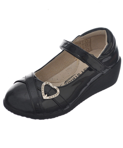 "Easy Strider Girls' ""Patent-Strapped Heart"" Mary Janes (Youth Sizes 13 – 4) - CookiesKids.com"