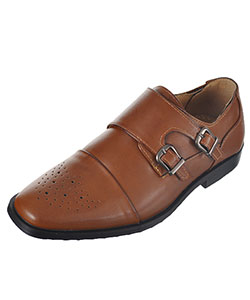 "Easy Strider Boys' ""Double Buckle Perforated"" Dress Shoes (Youth Sizes 4 – 7) - CookiesKids.com"