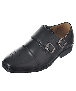 "Easy Strider Boys' ""Double Buckle Perforated"" Dress Shoes (Toddler Sizes 11 – 12) - CookiesKids.com"