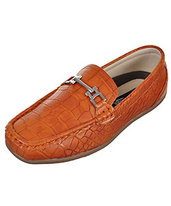 Boys' Faux Snakeskin Loafers by Easy Strider in Tan