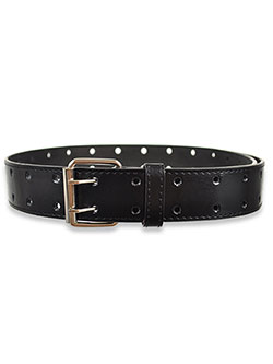 Boys' Double Punch Belt in Black