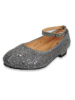Girls' Beaded Flats by Easy Strider in pewter, rose gold and silver - Dress Shoes