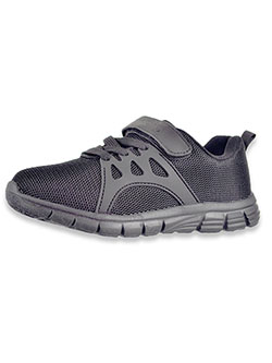 Boys' Strap Running Sneakers by Easy Strider in black, navy and white, Shoes