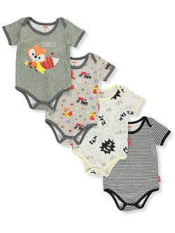 Baby Boys' Fox 4-Pack Bodysuits by Fisher Price in Multi