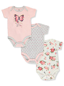 Baby Girls' 3-Pack Bodysuits by Mon Cheri Baby in Multi