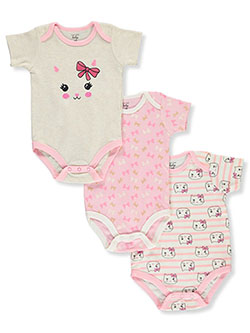 Baby Girls' 3-Pack Bodysuits by Mon Cheri Baby in Multi, Infants