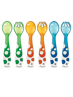 Munchkin 6-Pack Spoons & Forks - CookiesKids.com