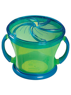 Snack Catcher Snack Dispenser by Munchkin in blue, green and purple