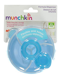 Formula Dispenser by Munchkin in blue, green and pink, Infants