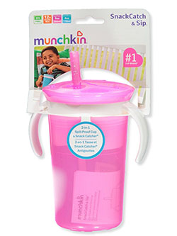 Snack Catch & Sip Cup Combo by Munchkin in blue and pink