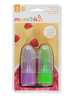2-Pack Food Pouch Spoon Tips by Munchkin in blue/green and fuchsia/green