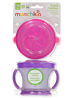 Snack Catch 2-Pack Snack Dispenser by Munchkin in blue/green and pink/purple