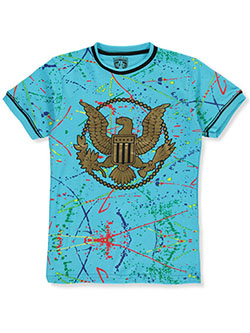 Boys' Eagle Paint T-Shirt by Bucheli Kids in turquoise and white