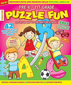 Puzzle Fun Magazine (1 Year / 6 Issues) - CookiesKids.com