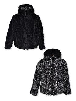Girls' Stardust Reversible Insulated Parka by Cheetah in Black
