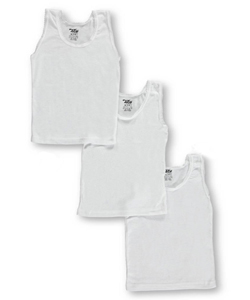 Little Girls' Toddler 3-Pack Tank Tops by Tato in White
