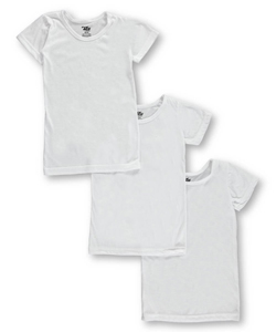 Little Girls' 3-Pack T-Shirts by Tato in White
