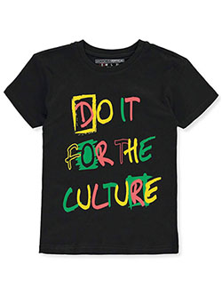 Boys' For The Culture T-Shirt by Brooklyn Vertical in Red, Sizes 8-20