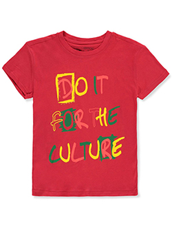 Boys' For The Culture T-Shirt by Brooklyn Vertical in Red - T-Shirts