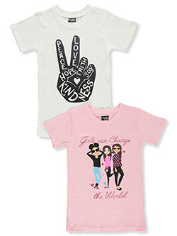 Girls' 2-Pack T-Shirts by Popular Sports in Multi