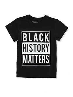 Black History Matters T-Shirt by Brooklyn Vertical in Black