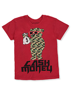 Boys' Cash Money T-Shirt by Brooklyn Vertical in Red