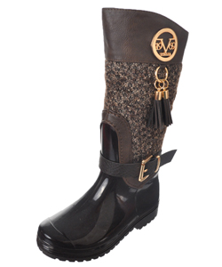"V Italia Girls' ""Vivien"" Rain Boots (Toddler Sizes 10 – 12) - CookiesKids.com"