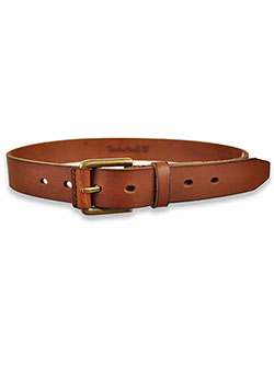 Boys' Logo Matte Belt by Timberland in Brown
