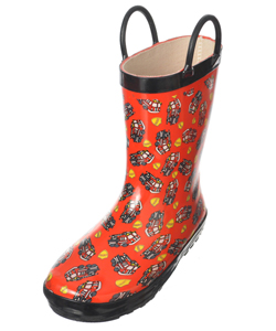 "Lilly Boys' ""Fire Rescue"" Rain Boots (Youth Sizes 13 – 3) - CookiesKids.com"