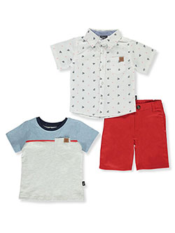 Anchors And Sails 3-Piece Shorts Set Outfit by American Hawk in Multi, Infants