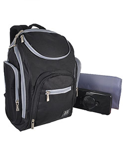 "Babyboom ""On the Go"" Backpack Diaper Bag with Changing Pad - CookiesKids.com"
