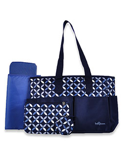 Diaper Bag With Travel Pouches by Babyboom in Navy
